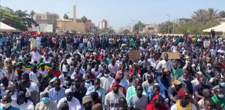 Hundreds of people protest against LGBTQ+ rights in Senegal
