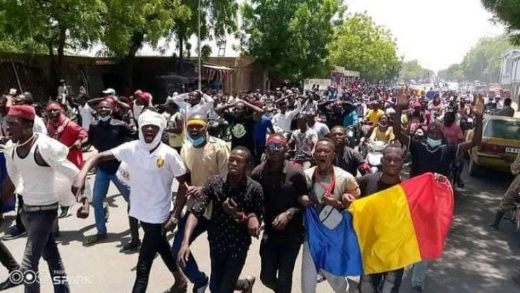 A peaceful march is authorized by Chad's authorities